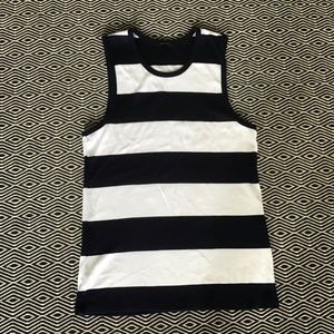 JCrew Navy Stripe Tank Large